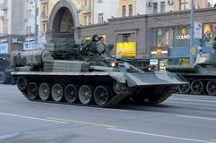 莫斯科游行排练胜利 库存图片