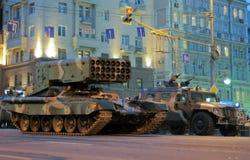 莫斯科游行排练胜利 免版税库存图片