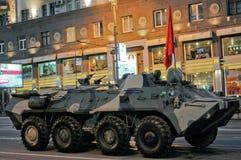 莫斯科游行排练胜利 库存照片