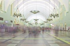 莫斯科火车站内部  免版税库存照片