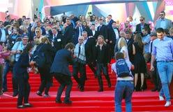 莫斯科电影节的布莱德・彼特 库存照片