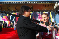 莫斯科电影节的斯韦特兰娜伊万诺娃 免版税库存照片