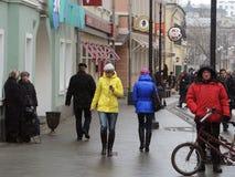 莫斯科的人们 图库摄影