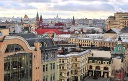 莫斯科的历史中心的顶视图 免版税库存照片