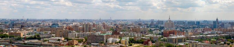 莫斯科的鸟瞰图,夏天晴天 库存图片