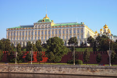莫斯科盛大克里姆林宫宫殿和通告大教堂 库存照片