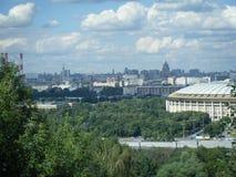 莫斯科看法从血污的Vorobyovy的 图库摄影