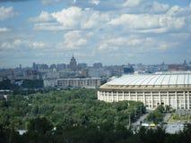 莫斯科看法从血污的Vorobyovy的 库存图片
