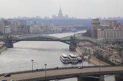 莫斯科看法有高层建筑物的 免版税库存照片