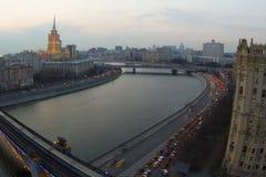莫斯科看法有高层建筑物的 库存图片