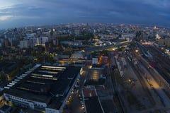 莫斯科看法有高层建筑物的 免版税图库摄影