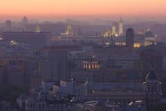 莫斯科看法有高层建筑物的 免版税库存图片