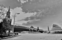 莫斯科红场 北京,中国黑白照片 免版税库存图片