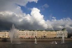 莫斯科视图 St索非亚堤防 免版税库存照片