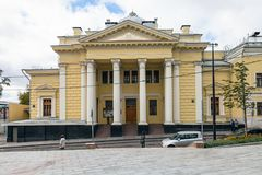莫斯科诗歌犹太教堂门面正面图  库存图片
