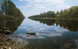 莫斯科运河 免版税库存照片