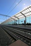 莫斯科铁路MCC的一点圆环或者MK MZD,俄罗斯 Luzhniki火车站 库存图片
