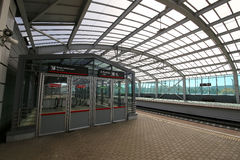 莫斯科铁路MCC的一点圆环或者MK MZD,俄罗斯 Luzhniki火车站 图库摄影