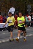 6莫斯科马拉松的参加者 免版税库存照片