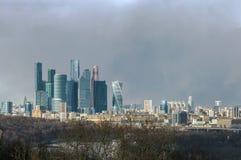 莫斯科,俄国全景从麻雀小山的 图库摄影