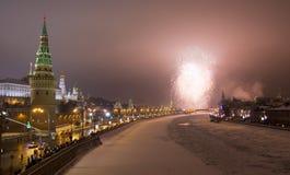 莫斯科,在克里姆林宫附近的致敬 库存图片