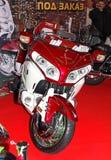 莫斯科,俄国- MARCH-02-2013 : 第10前国际的摩托车 免版税库存图片