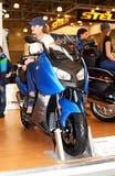 莫斯科,俄国- MARCH-02-2013 : 第10前国际的摩托车 免版税库存照片