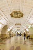 """莫斯科,俄罗斯†""""2017年7月09日:Belorusskaya地铁内部  免版税图库摄影"""