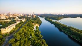 莫斯科,俄罗斯全景鸟瞰图  库存照片