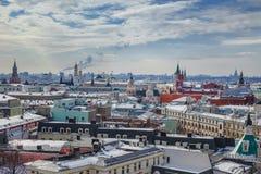 莫斯科,俄罗斯全景  冬天 免版税库存图片