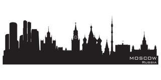 莫斯科,俄罗斯地平线 详细的传染媒介剪影 皇族释放例证