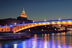 莫斯科,俄罗斯夜场面  库存照片