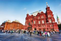 莫斯科,俄罗斯联邦- 2017年8月27日:-克里姆林宫,红色 免版税图库摄影