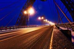 莫斯科,俄罗斯联邦- 11月4,2016 :在河的美丽如画的桥梁 它是首先缆绳被停留的,打开  库存图片