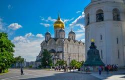 莫斯科,俄罗斯,克里姆林宫,纳塔利娅和格里, 16世纪的证言的教会 免版税库存图片