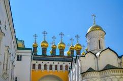 莫斯科,俄罗斯,克里姆林宫,纳塔利娅和格里, 16世纪的证言的教会 免版税图库摄影