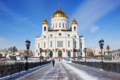 莫斯科,俄罗斯,基督寺庙救主 图库摄影
