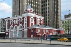 莫斯科,俄罗斯, 2017年5月, 19日 莫斯科,街道Krasnoprudnaya 议院16, bldg 1,被建立的1904年 免版税库存图片
