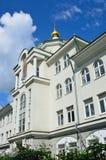 莫斯科,俄罗斯, 2017年6月, 12日 莫斯科, Tessinsky车道,房子3 非状态教育机构,中学- Traditi 免版税库存图片