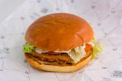 莫斯科,俄罗斯, 2018年3月13日:麦克唐纳` s鸡食家汉堡,麦克唐纳` s是建立的一家快餐联锁饭店  免版税库存照片