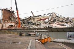 莫斯科,俄罗斯, 3月, 12日 2018年:戏院` Kirgizia `老大厦的爆破  库存照片