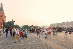 莫斯科,俄罗斯, 2016年7月24日,莫斯科夏天节日,莫斯科果酱 免版税库存图片