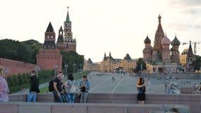 莫斯科,俄罗斯, 2016年6月23日:克里姆林宫的斯帕斯基塔 影视素材