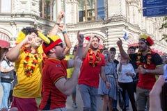 莫斯科,俄罗斯:世界杯2018年,足球迷 库存图片