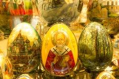 莫斯科,俄罗斯:纪念品复活节彩蛋 库存图片