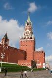 莫斯科,俄罗斯:莫斯科Krem Spasskaya塔  免版税库存照片