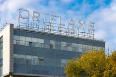 莫斯科,俄罗斯-双十国庆, 2017年:瑞典公司Oriflame的大会办公处大厦在莫斯科 免版税图库摄影