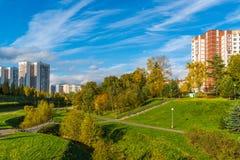 莫斯科,俄罗斯-双十国庆 2017年 Zelenograd管理区域16个区  库存图片