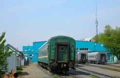 莫斯科,俄罗斯-可以13日2013年 莫斯科铁路集中处 s地方  免版税库存图片