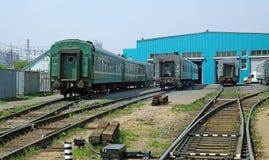 莫斯科,俄罗斯-可以13日2013年:莫斯科铁路集中处 免版税库存图片